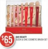 Quo Beauty Sleek & Chic Cosmetic Brush Set