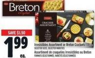 Irresistibles Assortment Or Breton Crackers