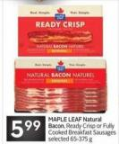 Maple Leaf Natural Bacon
