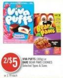 Viva Puffs (300g) or Dare Bear Paws Cookies