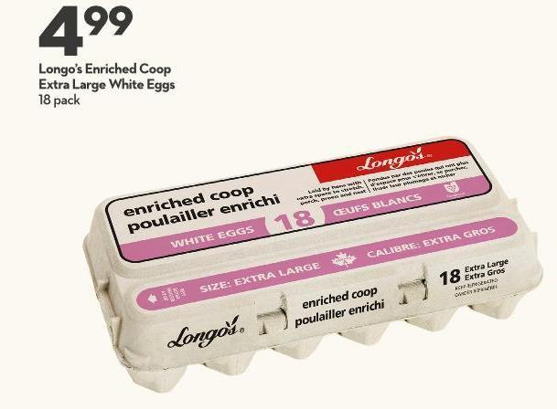 Longo's Enriched Coop Extra Large White Eggs