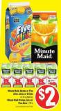 Minute Maid - Nestea or Five Alive Juices or Drinks 8-10 X 200 mL Minute Maid Orange Juice or Five Alive 1.75 L
