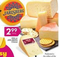 Oka or Jarlsberg Cheese
