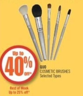 Quo Cosmetic Brushes