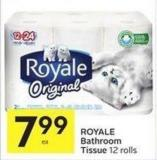 Royale Bathroom Tissue 12 Rolls
