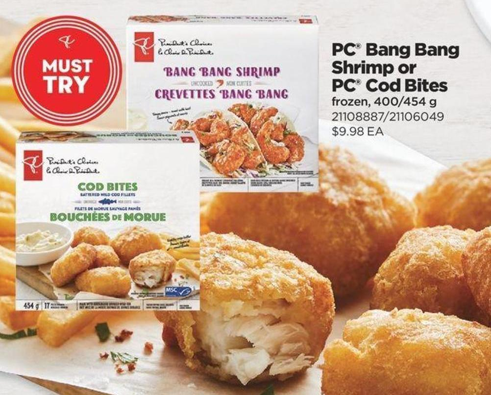 PC Bang Bang Shrimp Or PC Cod Bites - 400/454 g