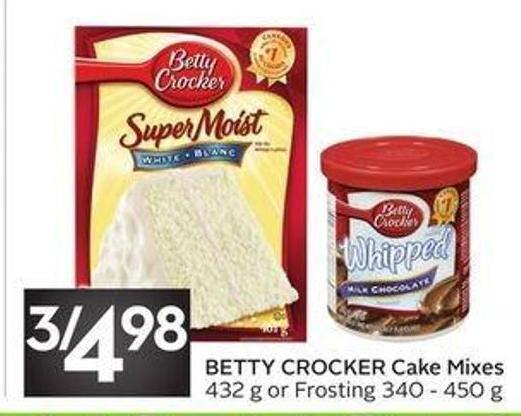 Betty Crocker Cake Mixes