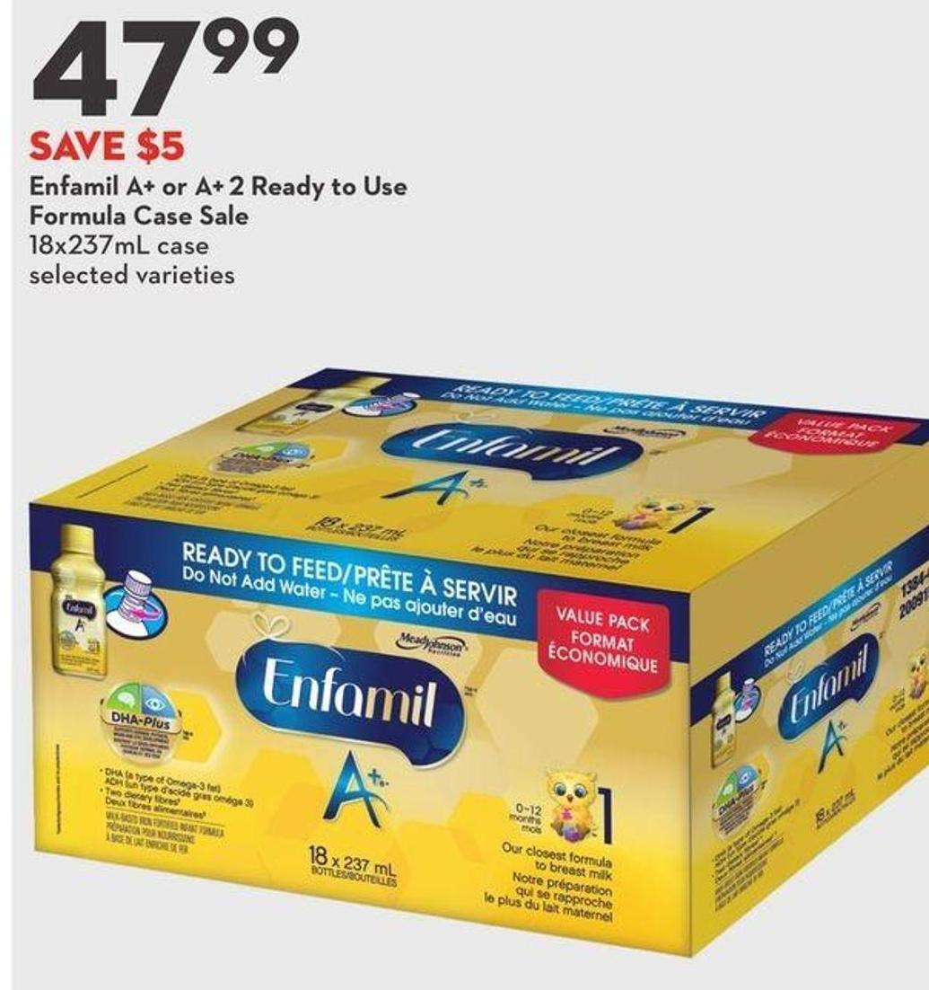 Enfamil A+ or A+ 2 Ready To Use Formula Case Sale