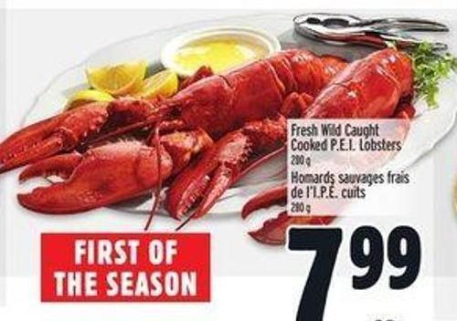 Wild Caught Cooked P.e.i. Lobsters