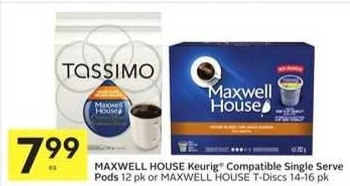 Maxwell House Keurig Compatible Single Serve Pods