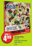 Al Safa Pizza Frozen Selected Varieties 560-607 g
