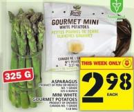 Asparagus Or Mini White Gourmet Potatoes