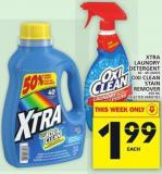 Xtra Laundry Detergent 40 - 48 Loads Or Oxi Clean Stain Remover 650 Ml