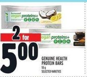 Genuine Health Protein Bars