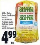 All But Gluten Gluten Free Breads 248 - 600 g