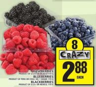 Raspberries Or Blueberries Or Blackberries