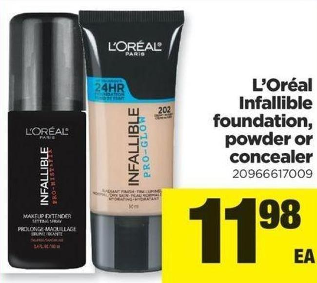 L'oréal Infallible Foundation - Powder Or Concealer