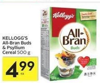 Kellogg's All-bran Buds & Psyllium Cereal