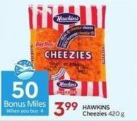 Hawkins Cheezies 420 g - 50 Air Miles