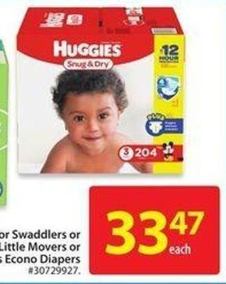 Huggies Snug & Dry - Little Movers Orlittle Snugglers Econo Diapers
