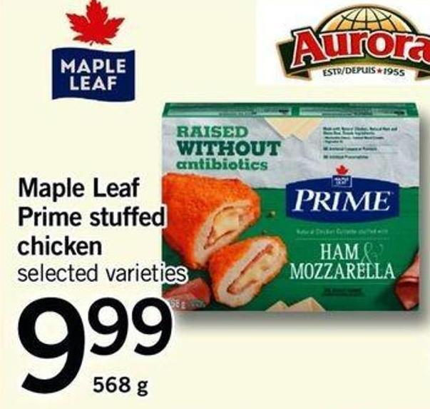 Maple Leaf Prime Stuffed Chicken - 568 G