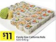 Family Size California Rolls