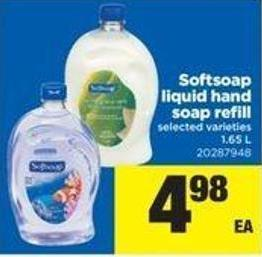 Softsoap Liquid Hand Soap Refill - 1.65 L