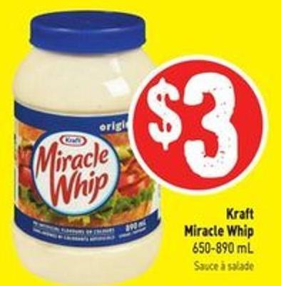 Kraft Miracle Whip 650-890 mL
