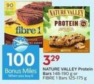 Nature Valley Protein Bars 148-190 g or Fibre 1 Bars 125-175 g - 100 Air Miles Bonus Miles