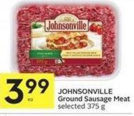 Johnsonville Ground Sausage Meat Selected 375 g