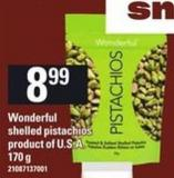 Wonderful Shelled Pistachios - 170 G