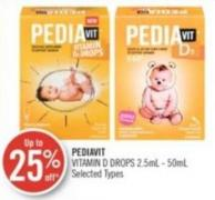 Pediavit Vitamin D Drops 2.5ml - 50ml