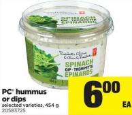 PC Hummus Or Dips - 454 G
