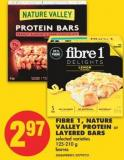 Fibre 1 - Nature Valley Protein or Layered Bars - 125-210 g