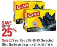 Selected Glad Garbage Bags