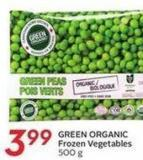 Green Organic Frozen Vegetables