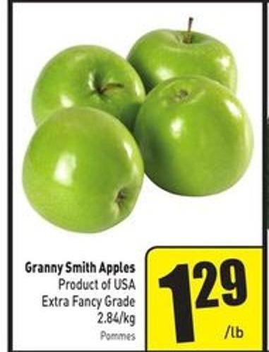 Granny Smith Apples 2.84/kg