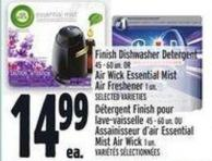Finish Dishwasher Detergent 45 ‑ 60 Un. Or Air Wick Essential Mistair Freshener 1 Un.