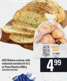 Ace Bakery Artisan Rolls - 8-12's Or Pane Rustico - 600 g