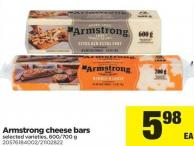 Armstrong Cheese Bars - 600/700 G
