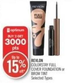 Revlon Colorstay Full Cover Foundation or Brow Tint