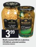 Maille Mustard - 500 mL or Gherkins - 375/400 mL