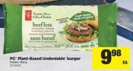 PC Plant-based Undeniable Burger - 452 g