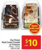 Our Finest Real Cream Tuxedo or Tiramisu
