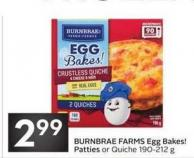 Burnbrae Farms Egg Bakes! Patties