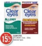 Clear Eyes Eye Drops 15ml - 30ml