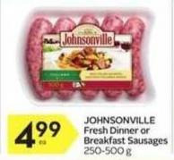 Johnsonville Fresh Dinner or Breakfast Sausages
