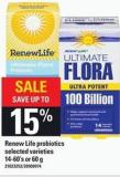 Renew Life Probiotics - 14-60's Or 60 G