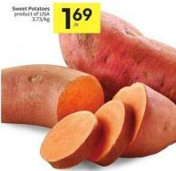 Sweet Potatoes Product of USA 3.73/kg