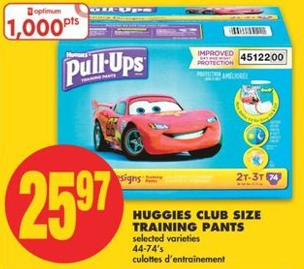 Huggies Club Size Training Pants - 44-74's